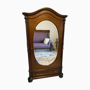 Antique Gründerzeit Cabinet with a Mirror Door
