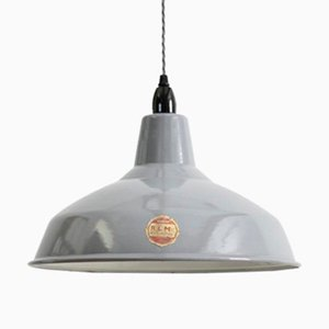 Grey Enamel Pendant Lamp from Benjamin, 1950s