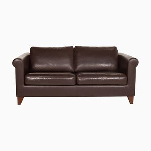 Dark Brown Leather Amadeo 3-Seat Sofa from Machalke