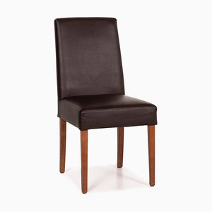 Dark Brown Leather Dining Chair from Musterring