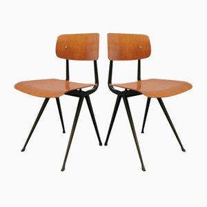Sedie da scuola industriali di Friso Kramer per Ahrend De Cirkel, Olanda, anni '50, set di 5