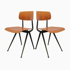 Silla de escuela holandesa industrial de Friso Kramer para Ahrend De Cirkel, años 50