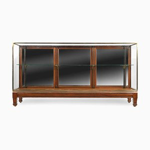 English Display Cabinet in Mahogany and Brass