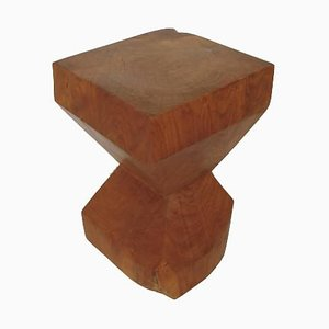Wooden Stool, 1970s