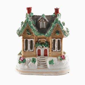 Antique Staffordshire Miniature Cottage