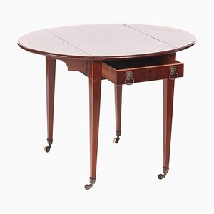 Sheraton Period Inlaid Mahogany Pembroke Table, 1800s