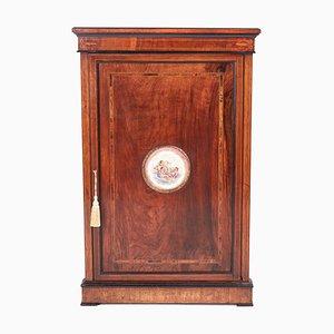 Victorian Inlaid Walnut Corner Cabinet