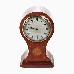 Edwardian Inlaid Mahogany Balloon Clock