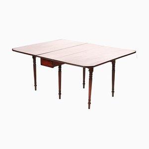 Large George III Mahogany Drop Leaf Dining Table