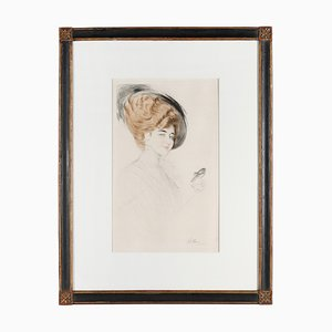 Antike Farbradierung von Paul César Helleu für Belle Epoque Paris