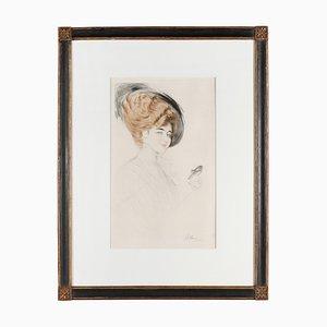 Gravure à l'Eau-Forte Antique par Paul César Helleu pour Belle Epoque Paris