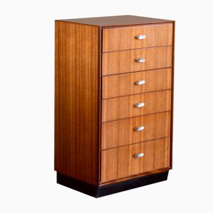 Mid-Century Chest of Drawers in Walnut, 1960s