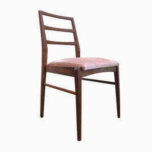 Afromosia & Velvet Dining Chairs by Richard Hornby for Fyne Ladye, 1960s, Set of 4