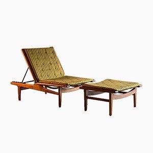 Sofá cama GE1 de Hans J. Wegner para Getama, Denmark, 1954