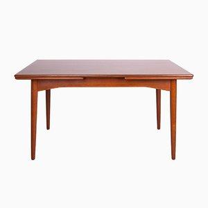 Mid-Century Danish Teak Extendable Dining Table, 1960s