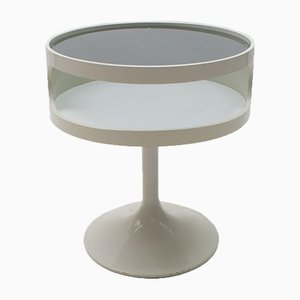 Side Table with Blue Glass from Opal Möbel, Germany, 1970s
