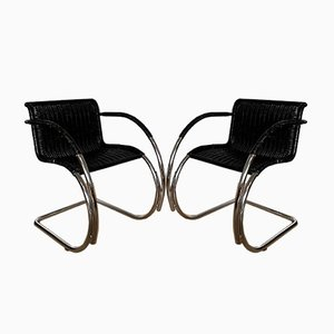MR20 Armchairs by Ludwig Mies van der Rohe, 1970s, Set of 2