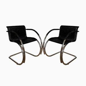 MR20 Armlehnstühle von Ludwig Mies van der Rohe, 1970er, 2er Set