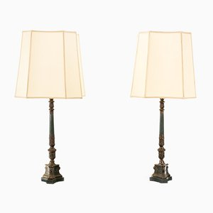 French Empire Style Table Lamps, 1968, Set of 2