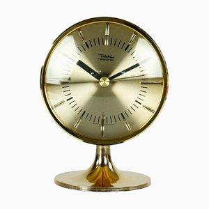 Horloge de Bureau Resonic Mid-Century avec Pieds Tulipe et Mécanisme de Fourche Mouvement Calibre 870 Électromécanique de Diehl