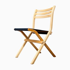 Vintage Black Fabric & Birch Palo Folding Chair from Ikea, 1980s