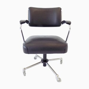 Black Leatherette Office Chair from Drabert, 1960s