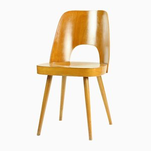 Mid-Century Modern Beech Chairs by Oswald Haerdtl for Ton, 1960s, Set of 2