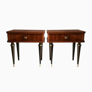 Rosewood Nightstands from NF, 1950s, Set of 2