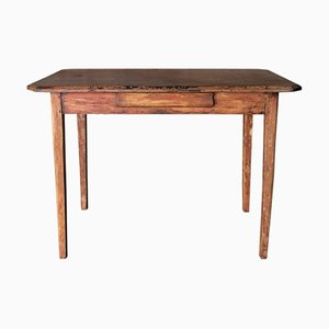 Antique Swedish Table with Drawer, 1920s