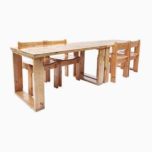 Mid-Century Pine Dining Table by Ate van Apeldoorn for Houtwerk Hattem, 1970s