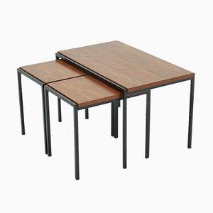 Tavolini a incastro serie giapponese di Cees Braakman per Pastoe, anni '60