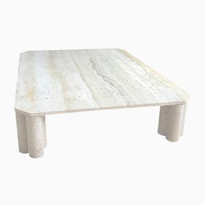Italian Travertine Coffee Table from Up & Up, 1970s