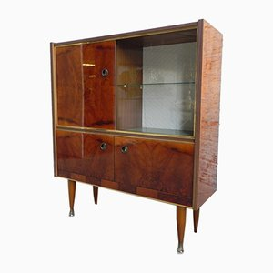 Vintage Display Cabinet with 2 Sliding Doors, 1960s