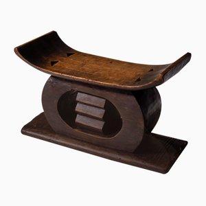 Vintage Hand-Carved Akan Ashanti Stool