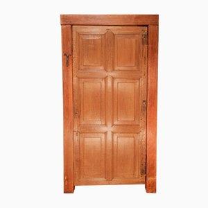 Antike 6-teilige Eiche Tür mit Rahmen