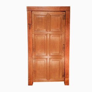 Antique Oak 6-Panel Door with Framework
