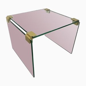 Cube Coffee Table with 3 Glass Plates, 1970s