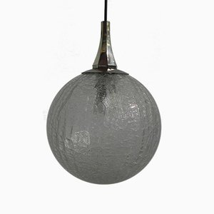 Vintage Hanging Lamp with Glass Ball, 1960s