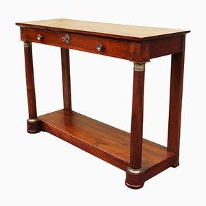 19th Century Empire Walnut Console Table