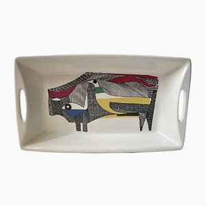 Modernist Ceramic Serving Dish by Hermann Bongard for Figgjo, 1960s