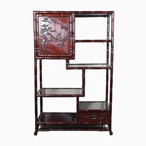 Chinese Exotic Wood Essence Bookcase, 1930s