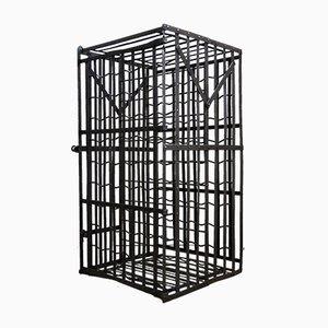 Vintage Wine Rack Cage, 1930s