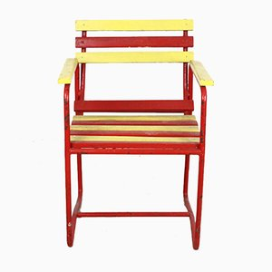 Vintage Outdoor Armchair in Bright Colors