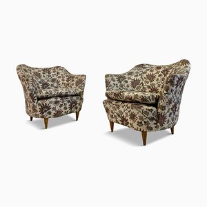 Mid-Century Italian Club Armchairs, 1950s, Set of 2