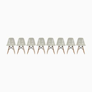 Vintage DSW Chairs by Charles & Ray Eames for Herman Miller, 1982, Set of 8