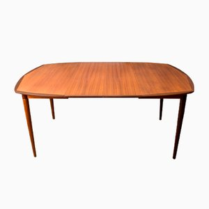 Scandinavian Square Teak & Macassar Dining Table by by Alf Aarseth for Gustav Bahus, 1960s