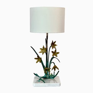 Vintage Regency Style Floral Table Lamp from Regina