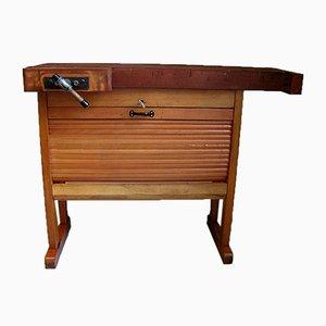 Mini Werkbank Schreibtisch mit Rollos, 1970er