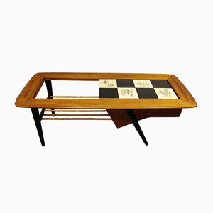 Table Basse Hidden Bar Vintage par Alfred Hendrickx pour Belform, 1950s