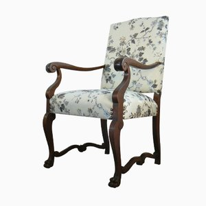 Antique German Oak Armchair